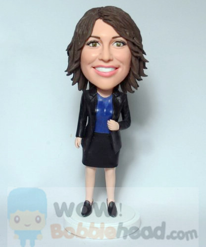 Custom Office Lady Bobblehead