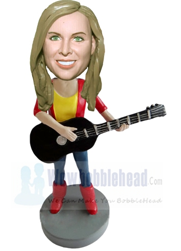 Custom Custom Guitar player bobblehead