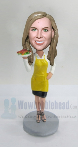 Custom Diner Waitress bobblehead