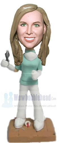 Custom Female Dentist with tooth bobblehead