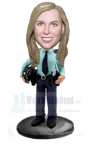 Custom Female police bobblehead