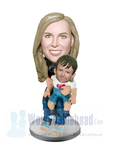Custom Mother holding child bobbleheads