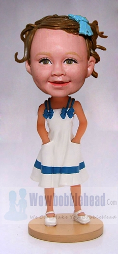 Custom Girly girl bobblehead