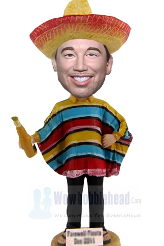 Custom Custom bobbleheads with Mexican Costume