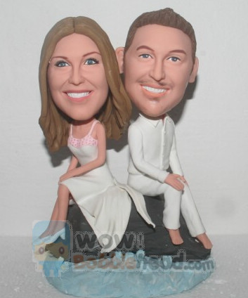 Custom Custom cake toppers beach wedding