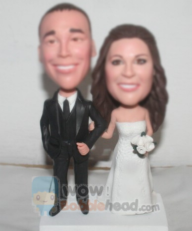 Custom Wedding bobbleheads Cake topper BW28