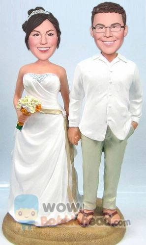 Custom Custom beach wedding cake toppers
