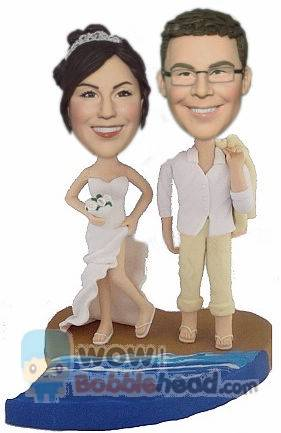 Custom Custom cake toppers Beach theme wedding