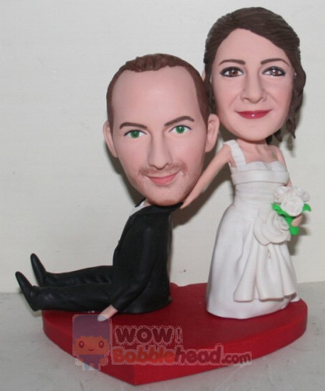 Custom Custom Bride Dragging Groom Bobbleheads