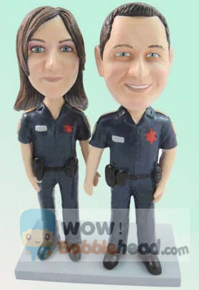 Custom Police couple bobbleheads