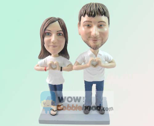 Custom Custom 50th wedding anniversary bobbleheads for parents