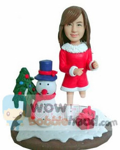 Custom Christmas Girl Custom Bobblehead