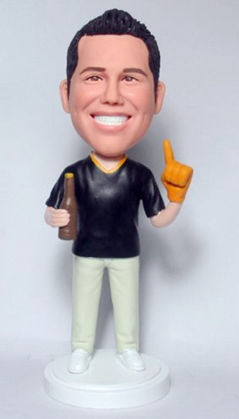 Custom Custom bobbleheads fans with Beer